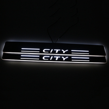 SNCN LED Car Scuff Plate Trim Pedal Door Sill Pathway Moving Welcome Light For Honda City 2015 2016 2017 2018 Accessories car styling fit for honda civic 2016 2017 led door sill scuff pedal door step light welcome pedal automobile accessories