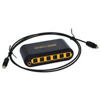 5pcs SPDIF/TOSLINK Optical Digital Audio True Matrix 4x2 Switcher/Splitter 4 In 2 Out with optical cable and power adapter