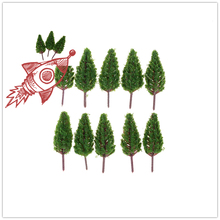 10PCS Ho Scale Plastic Miniature Model Trees For Building Trains Railroad Wargame Layout Scenery Landscape Diorama Accessories 30pcs lot 2018 colorful ho n oo architectural scale model abs plastic green trees 3 10cm model train landscape tree layout