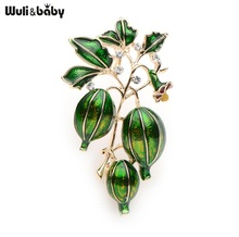 New Enamel Green Olives Brooches Women And Men's Alloy Plant Brooch Pins Girls' Hat Bag's Broche Gift