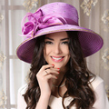 Summer Hats For Women Purple Kentucky Derby Hat Church Wedding Cap