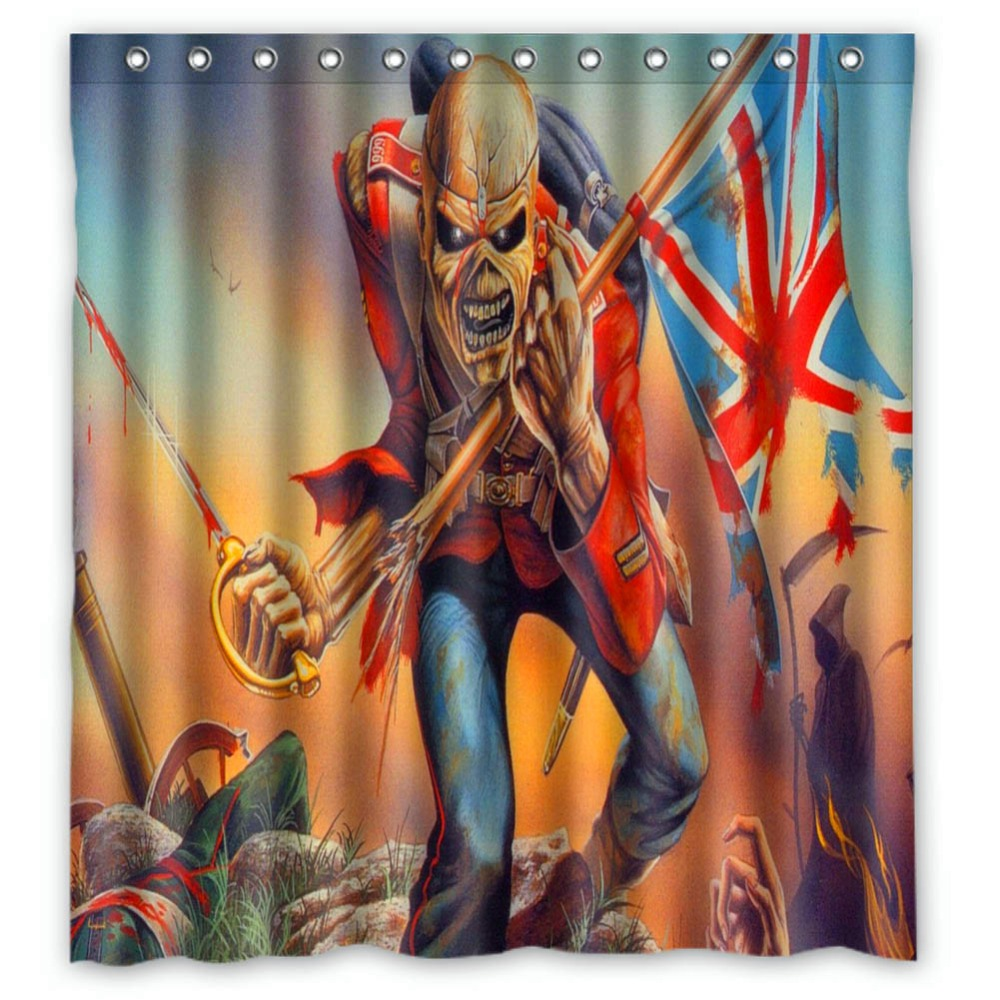 Iron curtain cartoon - Anime Shower Curtain One Piece Dragon Ball Z Bleach Fairy Tail Naruto Together Iron Maiden Shower Curtain 66x72 Inch