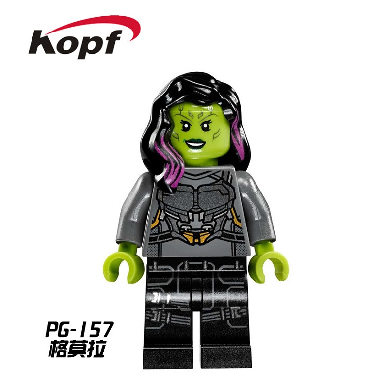 Single Sale Super Heroes 2017 New Guardians of the Galaxy Gamora Custom Model Building Blocks Collection Toys for children PG157