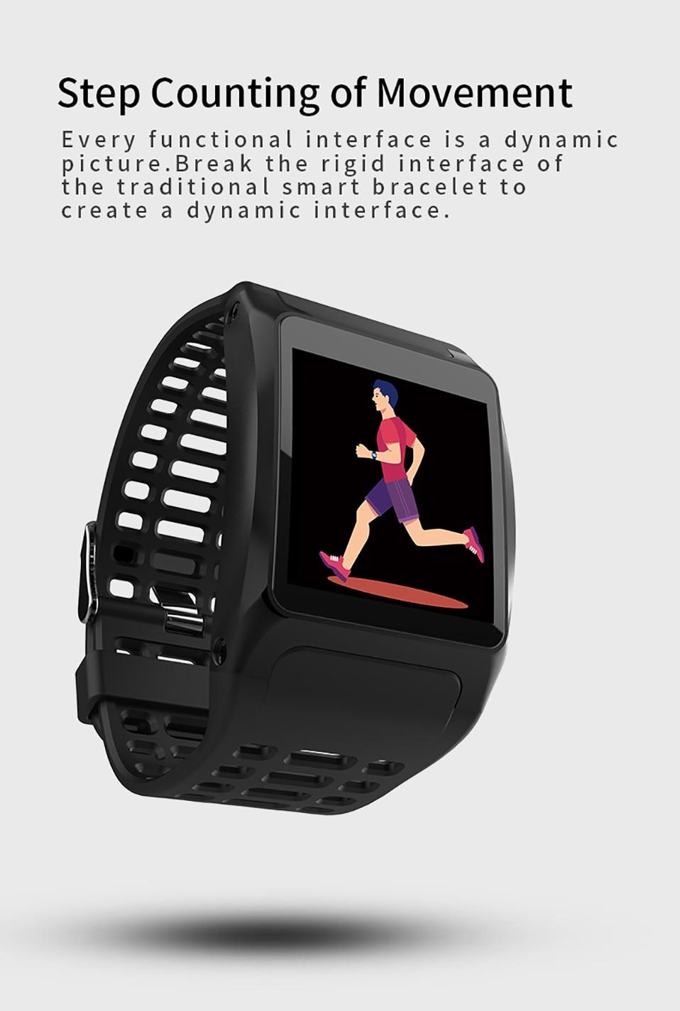 ALANGDUO Z01 Smart Watch Color Screen Smart Wristwatch Big Dials Heart Rate Monitor Micro sensor Waterproof Smart Watch Bracelet (4)