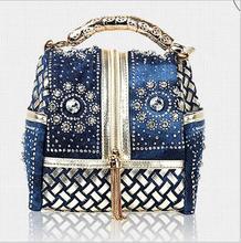 Heißer Designer Gewebt Frauen Handtasche Berühmte Marke Strass Totes umhängetasche Luxus Taschen