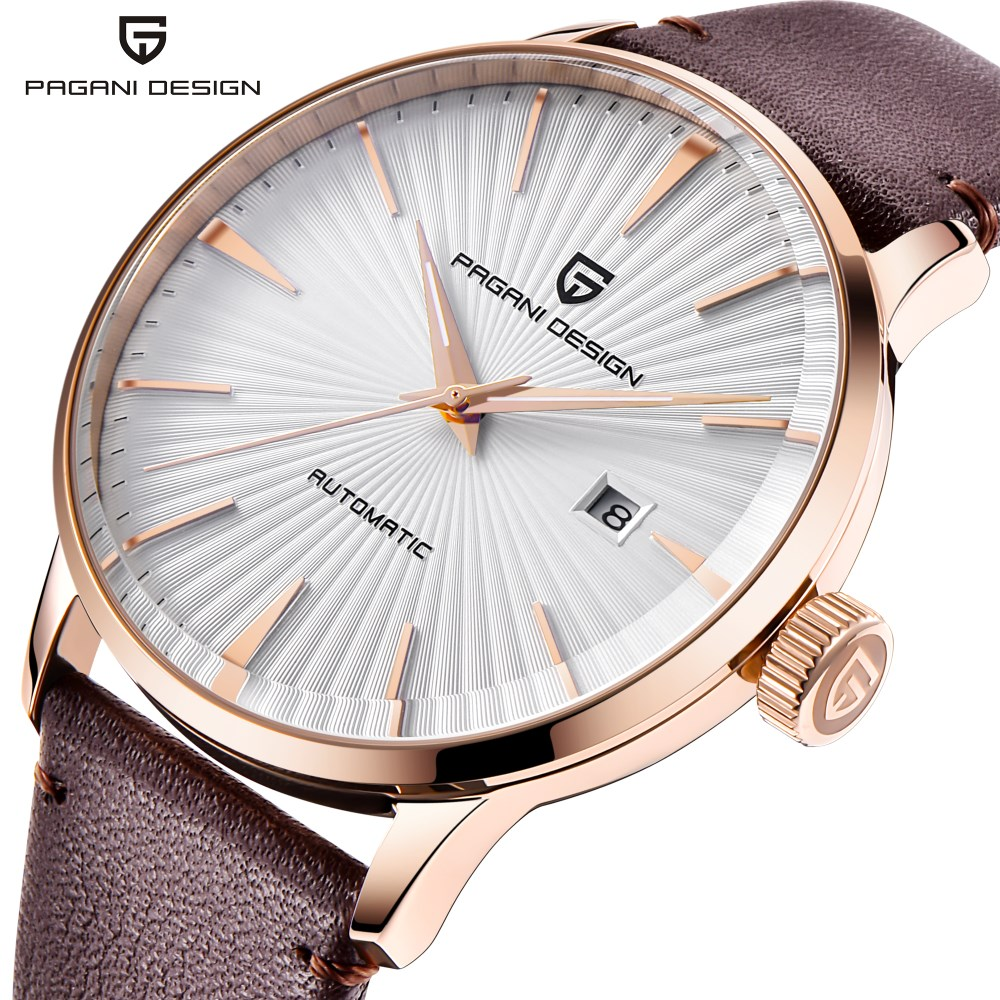 NEW Men Watch Reloj Hombre PAGANI DESIGN Brand Luxury Automatic Mechanical Waterproof Leather Watches Clock Relogio Masculino цена 2017