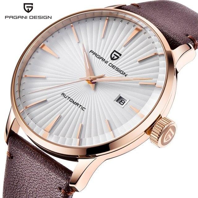 1ac9a7177a5 NOVOS Homens Relógio Reloj Hombre PAGANI PROJETO Marca De Luxo Mecânico  Automático Relógios Relógio de Couro