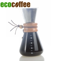 2018 new 304 Stainless Steel Reusable Filters Coffee Server 500Ml Heatproof V60 Coffee Pot Pour Over Coffee Kettle Stocked CIQ