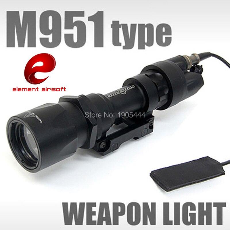 Élément Tactique Surefir M951 Arme lampe de Poche Softair Armes Pour Airsoft Bras Wapen Lampe Pistolet Arme Waffe Fusil de Chasse Lumière
