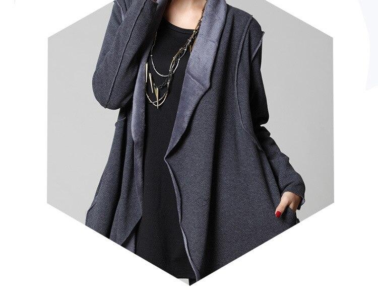 Polaire Lâche Hiver gris Épais Pardessus Automne Outwear Femelle Manteau Noir Tenue Femmes Streetwear430 Décontractée Asymétrique Cardigan Veste 2017 54xYwqPq