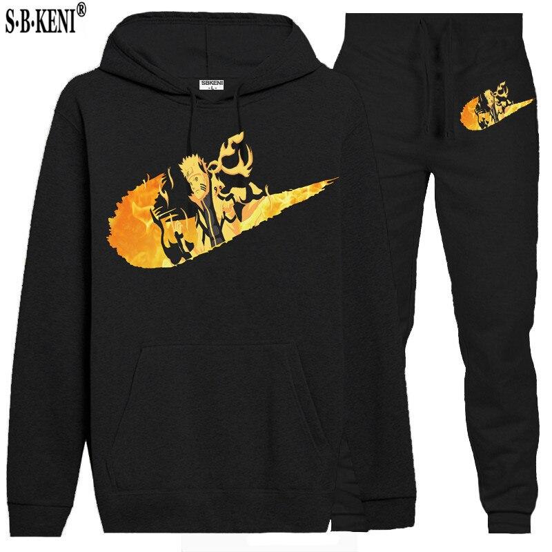 2019 Fleece Hooded Pullover Fashion Brand Hoodies Sweatshirts+Sweatpants Suits Sweatshirt Men Hoodie Tracksuit Sport Suit