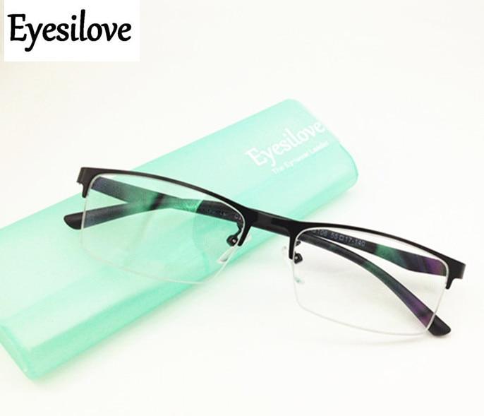 Eyesilove Finished myopia glasses mens business shortsight eyewear big face frame Nearsighted Glasses prescription glasses