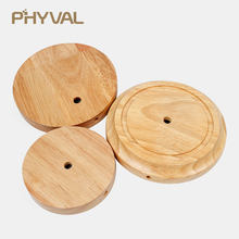 Wood Table Lamp Base Oak Nordic simple Desk light beside lights High quality DIY Light Parts lamp Bases for Vintage Edison E27(China)