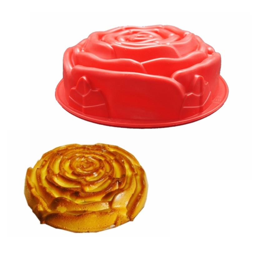 1ks Silikonový gel pro potravinářské účely, 7,5 cm, trubice, silikagel, plísně, růže, tvarování, model, dort, kutilství, pekařská forma, bez hůlky