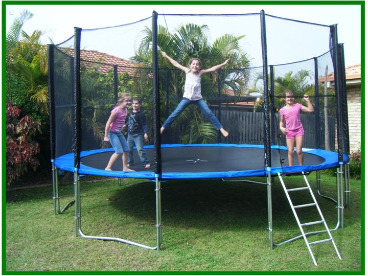 outdoor big trampoline child jumping bed 3m height 120 inches in trampolines from sports. Black Bedroom Furniture Sets. Home Design Ideas