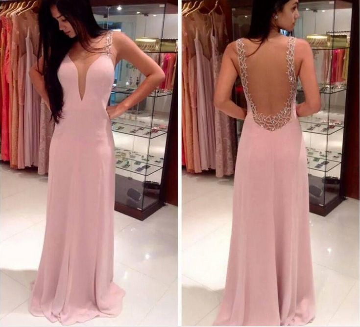 2018 New Long Deep V Neck Sexy Sleeveless Dress Women Vogue Backless Night Club Formal Party Clothes Formal Business Robe Dress