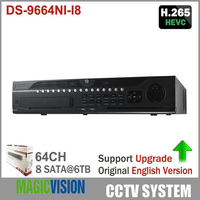 Updatable English Version Embedded NVR DS 9664NI I8 64CH 12MP 4K HDMI Output H 265 Surveillance