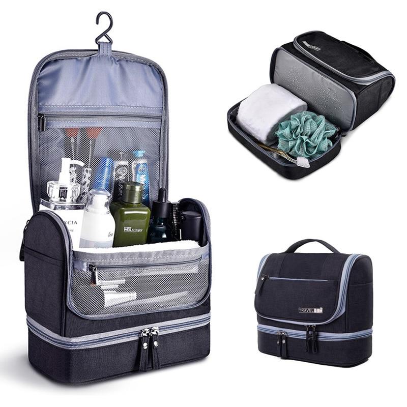 Travel Toiletry Bag Men Hanging Organizer Kit With Hook And Handle Waterproof Cosmetic Bag Dop Kit For Men Or Women Make Up Case