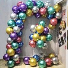 цена на New Glossy Metal Pearl Latex Balloons Thick Chrome Metallic Colors Inflatable Air Balls Globos Wedding Birthday Party Decoration