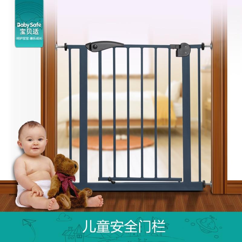 babysafe metal iron gate baby safety gate pet isolation fence 75-82cm width Hong kong free
