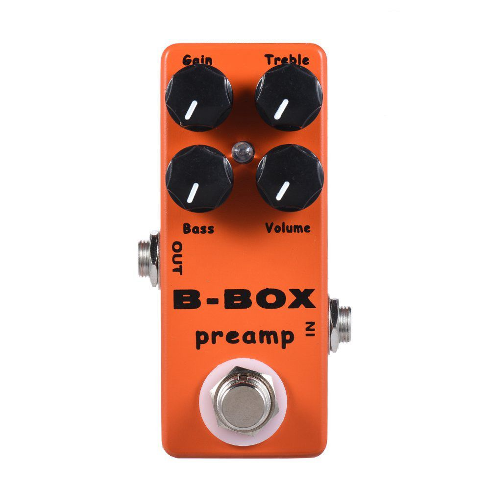 XFDZ MOSKY B-Box Electric Guitar Preamp Overdrive Effect Pedal Full Metal Shell True Bypass