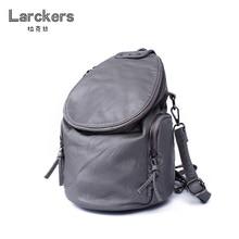 Larckers ведро Кожа PU женщин рюкзак круглая крышка двумя ремнями Crossbody Женщины Сумку один ремень использования сумка