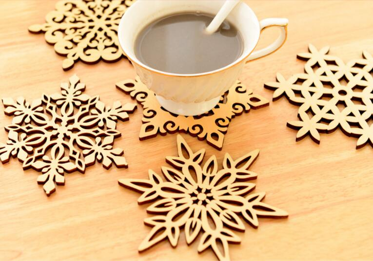 1 Pc Snowflake Table Mat Wooden Table Pad Beautiful 6 Types Snow Shape Mug  Coasters Chic Holder Coffee Tea Drinks Cup Pad In Mats U0026 Pads From Home U0026  Garden ...