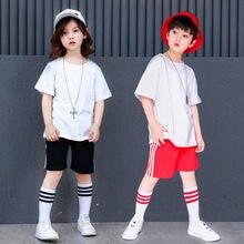 Moda niños Jazz Dance ropa niñas niños danza de la calle estilo Simple Hip  Hop danza trajes de rendimiento etapa trajes ff0734e99a9