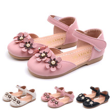 Toddler Infant Kids Baby Girls Flower Single Princess Leather Shoes Sandals Wedding