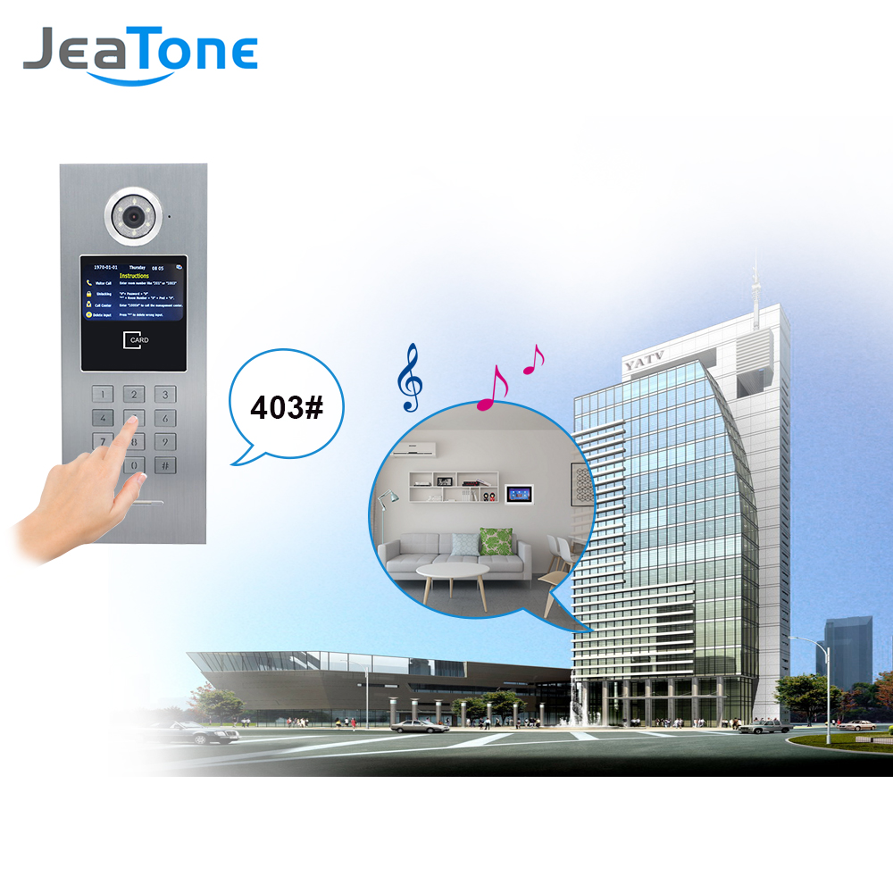 Image 4 - 7 Touch Screen WIFI IP Video Door Phone Intercom +Switch 4 Floors Building Access Control System Support Password/IC CardVideo Intercom   -
