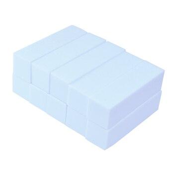 цена на 10pcs White Pink Form Nail Buffers File For UV Gel White Nail File Buffer Block Polish Manicure Pedicure Sanding Nail Art Tool