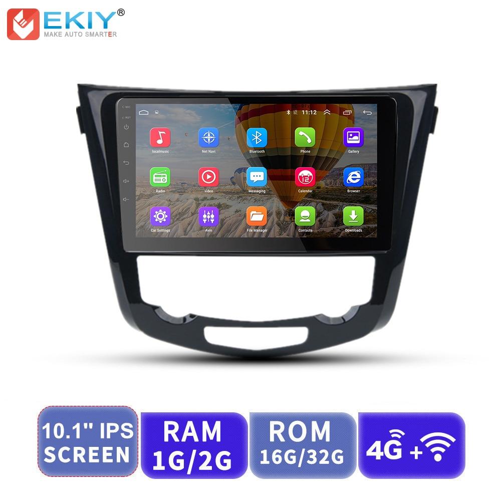 EKIY 10.1 'ips lecteur vidéo multimédia de voiture Android No 2 Din Auto Radio pour Nissan X Trail 2014 2015 2016 GPS Navigation 4G Modem