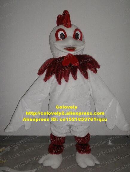 Weiß Huhn Chook Hahn Hahn Henne Küken Maskottchen Kostüm Erwachsene Cartoon Charakter Neue Jahr Party Unternehmen Propaganda Zz6637
