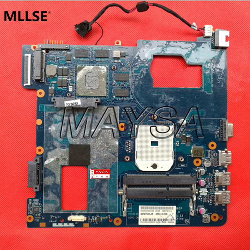 Laptop Motherboard Fit For Samsung NP355C4C NP355V5C Notebook Main Board QMLE4 LA-8863P BA59-03567A HD7600 1GB Socket SF1 free shipping 760970 501 zso50 la a992p i5 4210u 2gb main board for 15 r notebook motherboard