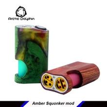 Arctic Дельфин Amber стабилизированной древесины Squonk Mod Squonker электронная сигарета Питание от одной батареи 18650