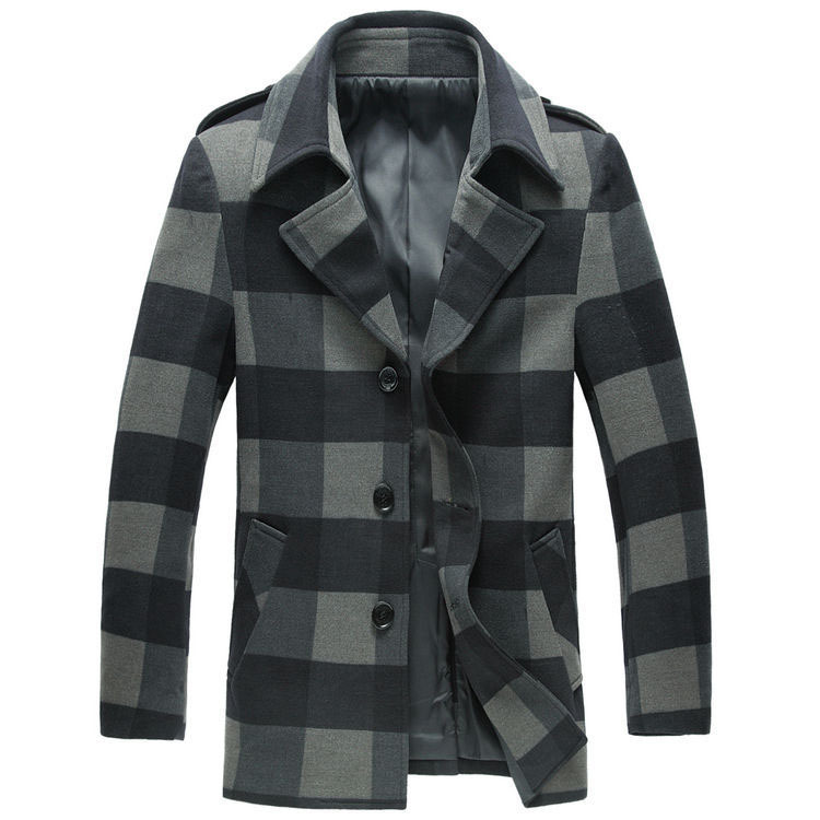 Popular Mens Gray Pea Coat-Buy Cheap Mens Gray Pea Coat lots from
