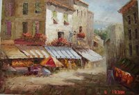 100% Hand Painted impressionism art Paris street scene Canvas Oil Painting for Home Wall Art by Well Known Artist