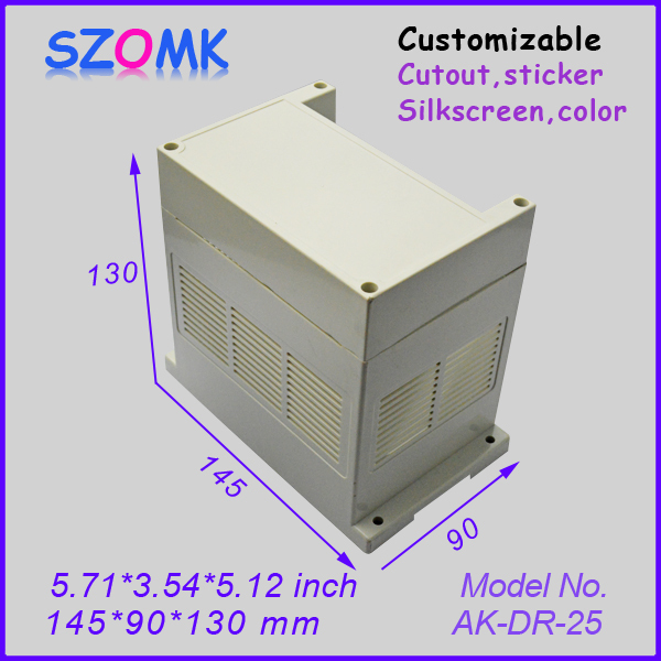 junction box abs plastic enclosure (4 pcs) 145*90*130mm wall mount box plastic electronic enclosure instrument case project box abs waterproof junction plastic case for electronic project enclosure box instrument chassis