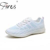 Léger d'été Chaussures Respirant Sneakers Femmes Sport chaussures Blanc Et Rose Sport Chaussure de Course Appartements de haute qualité Chaussures
