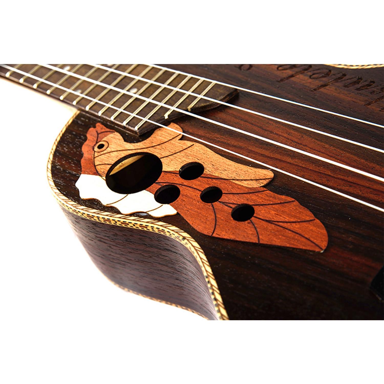 Guitare de voyage ukulélé électrique acoustique ténor de Concert de 23 pouces 4 cordes Guitarra bois acajou Plug-in musique Inst ukelele - 5