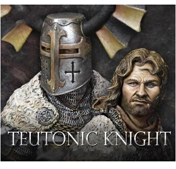 Scale Models 1 10 Teutonic Knights including two heads Resin Bust Model Free Shipping