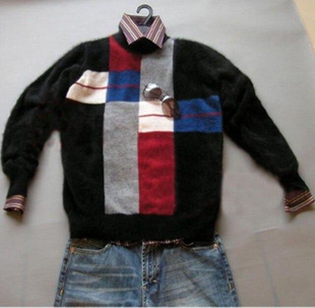 2016 New genuine mink cashmere sweater men pure 100% cashmere sweater pullovers mink sweater free shipping Wholesale price m630