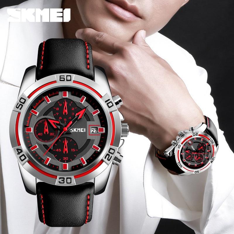 Men's Quartz Watch Chronograph Stopwatch Waterproof 1