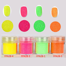10ML Neon Dust for Nails Decor 4 Color Fluorescence Effect Nail Glitter Neon Pigment for Nails Dipping Powder Nail Design AFAP28 цена
