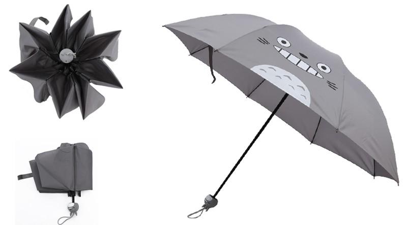 Creative Cute Cartoon Bear Rabbit Totoro Villain Children Umbrella 3 Folding Pongee Windproof Rain Umbrella For Kids16