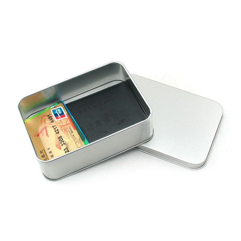 14.5cm*10.5cm Blank Tin Box Credit Card Storage Box Coffee Metal Case DIY Gifts Boxes