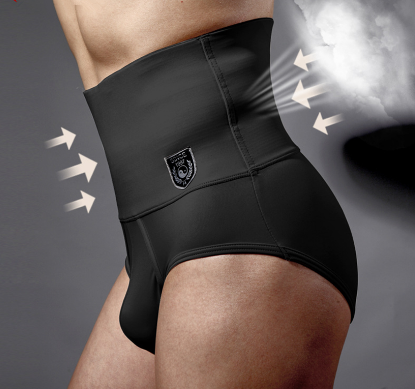 High quality men 's corset briefs Shaper bodysuit men slimming belt waist girdle panties mens sexy bodysuit underwear