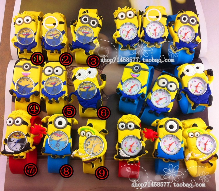 3 NEW Cartoon 3D despicable 2 minion watch kids children cartoon watches christmas gift - Babi Fu's store