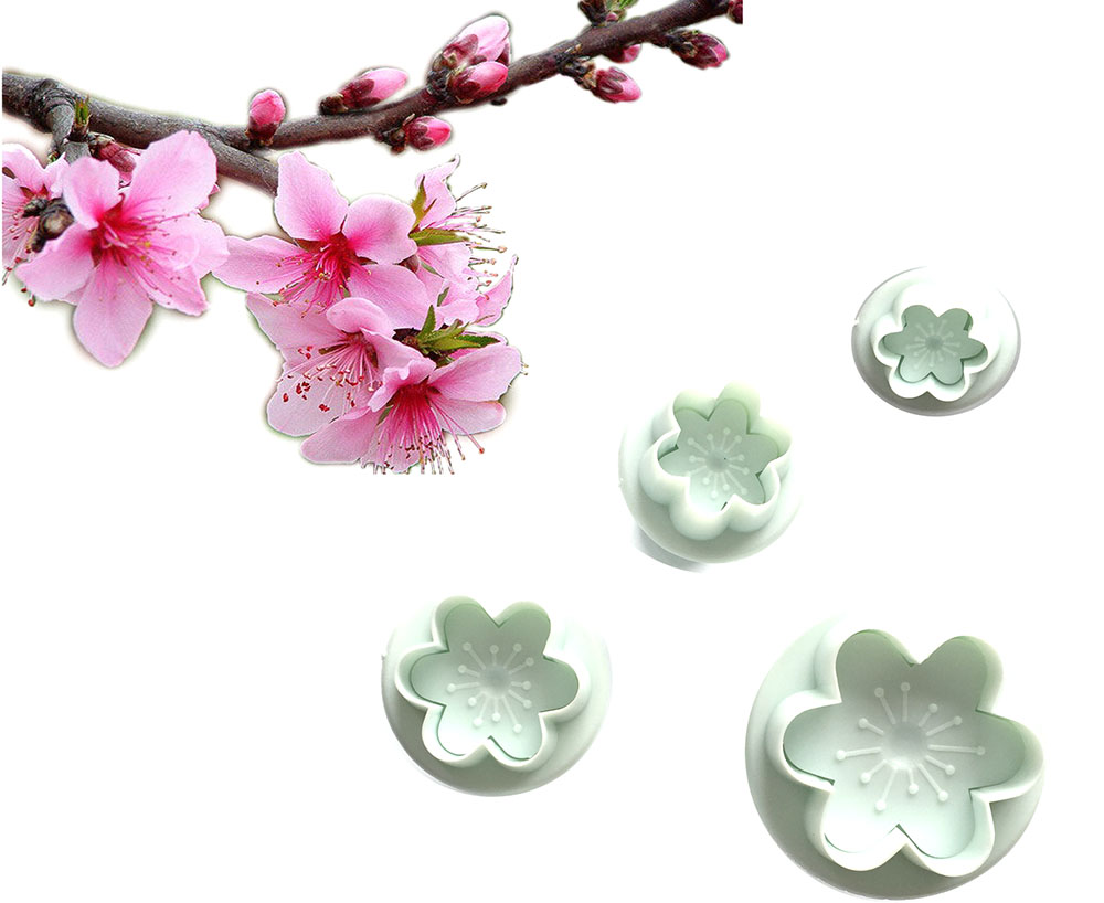 ᐃ4 unids/set melocotón forma para fondant cake decoración, cortador ...