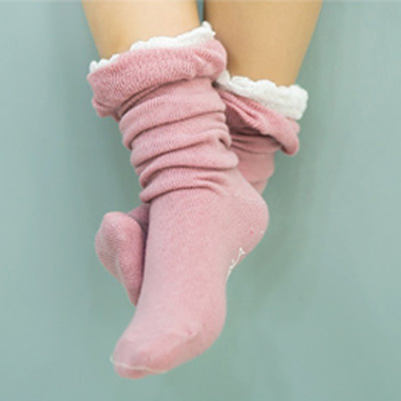Kid Newborn Girl Cotton Lace Leg Warmer Anti-slip Knee Socks Lovely Socks